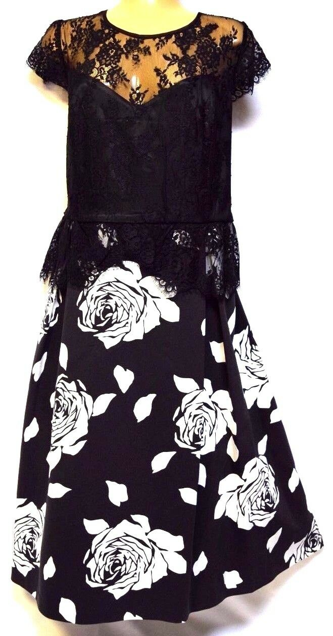 TS dress TAKING SHAPE EVENT WEAR plus sz M  20 'Isabella' lace sateen NWT rp 280