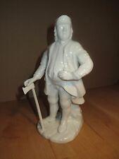 Fürstenberg - Figur Bergmann - Bergoffizier mit Axt - weiß / Porzellan