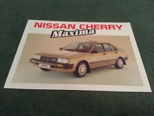 June 1985 Nissan CHERRY MAXIMA GS / SGL Special Edition - UK FOLDER BROCHURE