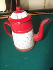 ANCIENNE CAFETIÈRE EMAILLEE   S166