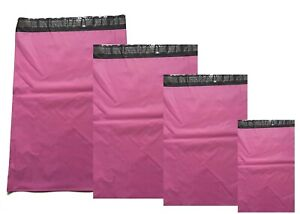 Pink-Strong-Mailing-Bags-Plastic-Mail-Post-Postage-Polythene-Strong-Seal-Color