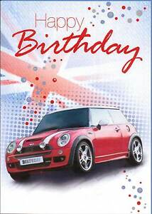 Bmw mini cooper s happy birthday card ebay image is loading bmw mini cooper s happy birthday card bookmarktalkfo Choice Image