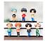 miniature 13 - 7pcs/set BTS RM Jin Suga JHope Jimin V Jungkook Doll Toy Figure BANGTAN boys