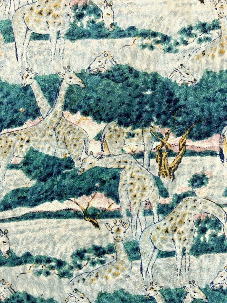 Gefährdete Arten Giraffen Khaki Grün Seidenkrawatte Krawatte MJL1320B #Y20