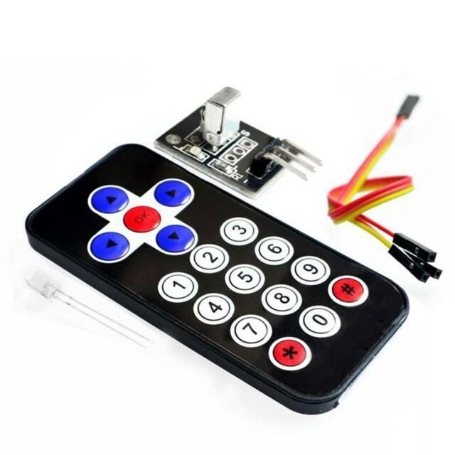 1 set Mini Slim Infrared Wireless Remote Control with IR Receiver Module N