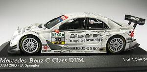 MINICHAMPS-Mercedes-Benz-C-Class-DTM-2005-B-Spengler-NEU-in-OVP-1-43