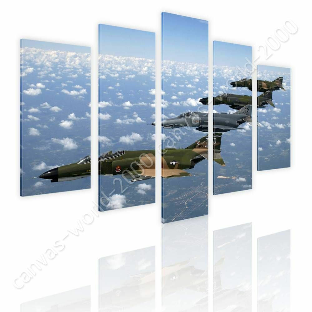 Air Force Fighter Jet by Split 5 Panels   Canvas (Rolled)   5 Panels Wall art