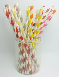 25-pcs-Colored-Paper-Drinking-Straws-Diagonal-Striped-Drinking-Straw-For-Party