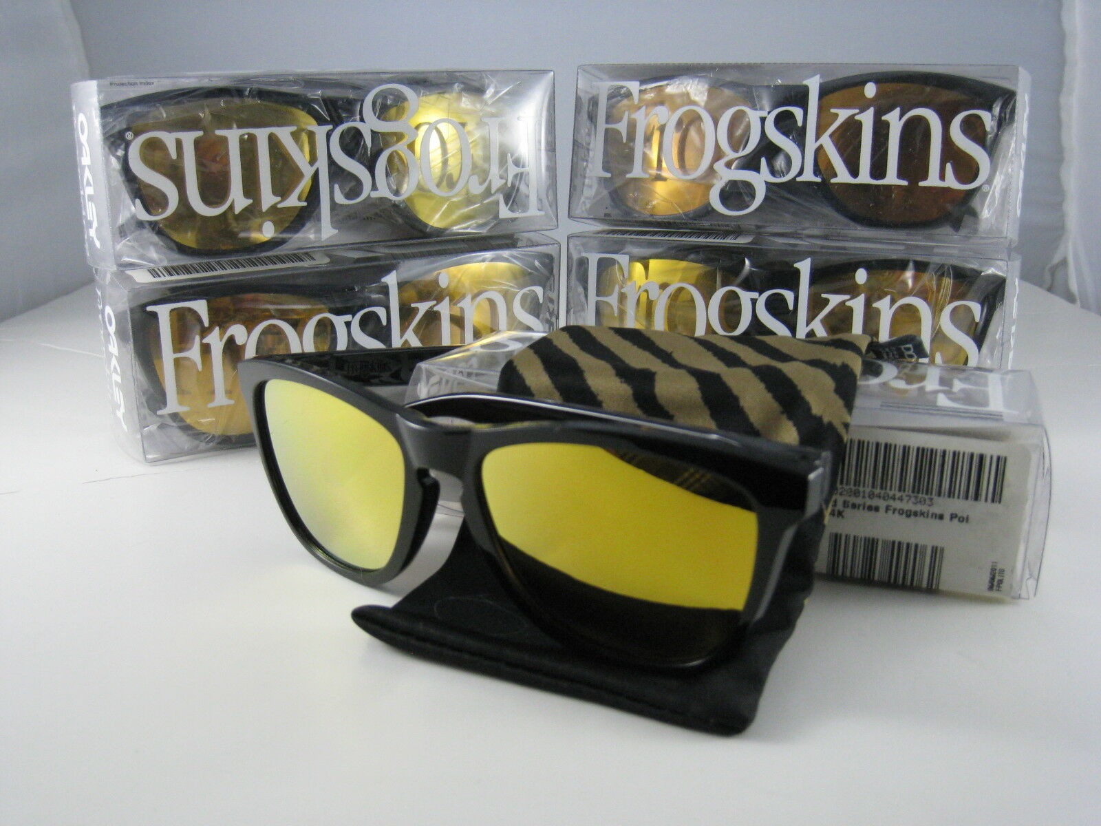 f4dbaf7730 Oakley Frogskins Sunglasses Black 24k Shaun White RARE Frog USA 2011 24-272  for sale online