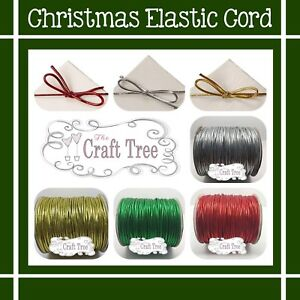 Christmas Metallic Round Elastic Stretch Cord  / String 2mmVarious sizes