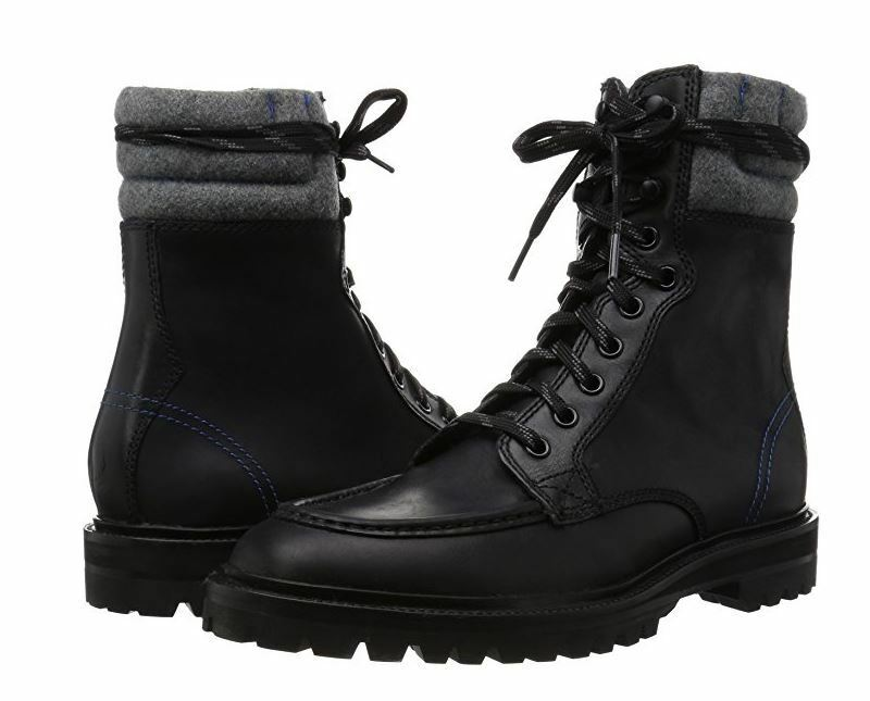 Cole Haan Mens Judson Tall Water Resistant Lace Up Moc Toe Winter Work Boots