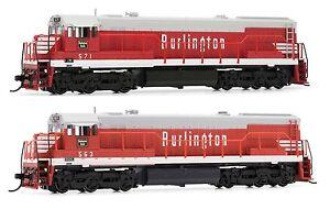 Arnold-Burlington-CB-amp-Q-GE-U28C-Diesel-DCC-Ready-563-571-N-Scale-Locomotives