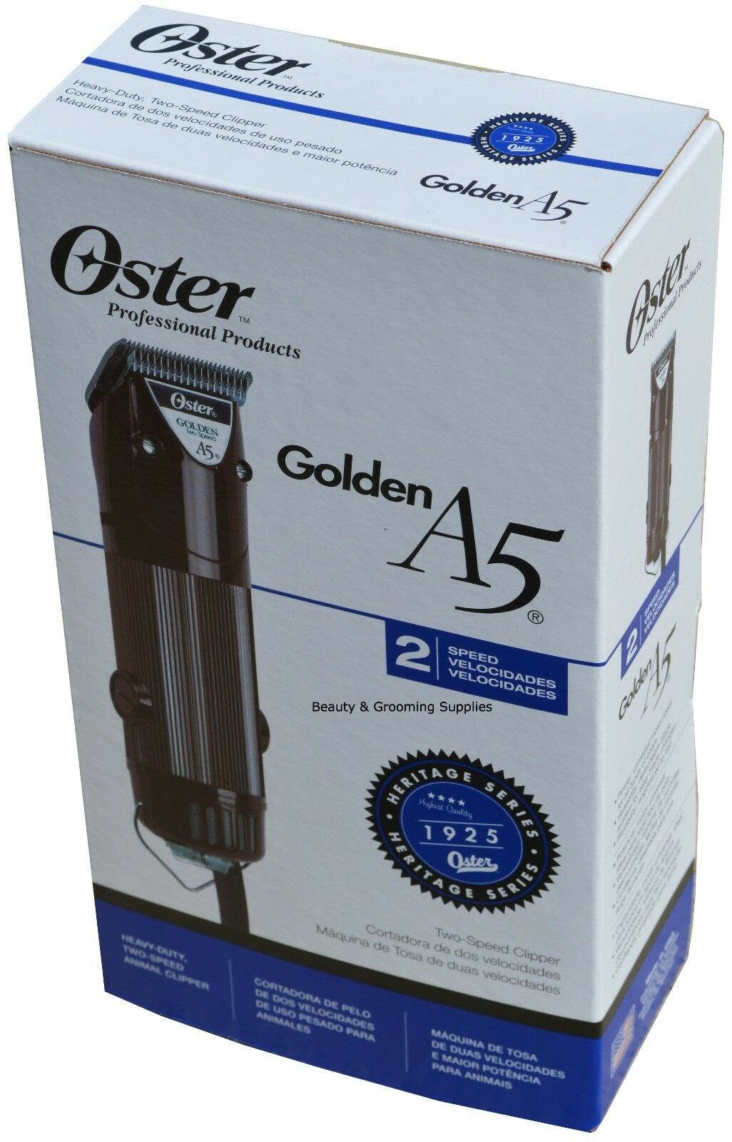 Oster GOLDEN A5 Professional 220v Clipper 1133963 Two Speed CryogenX 78005140
