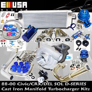 Presicion-5431-Turbo-Kit-D-SS-Cast-Manifold-for-1-6L-SOHC-VTEC-I-4-125HP-D16Z6