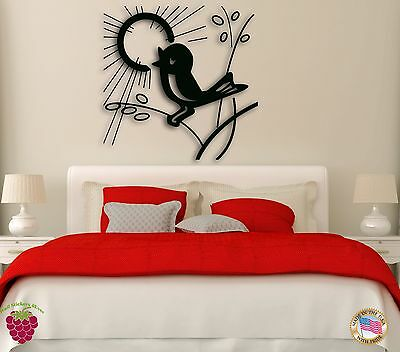 Wall Sticker Birds Nature Sun for Bedroom z1265