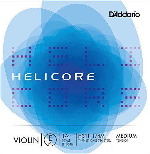 D/'Addario Helicore Violin Single E String Medium Tension 1//4 Scale