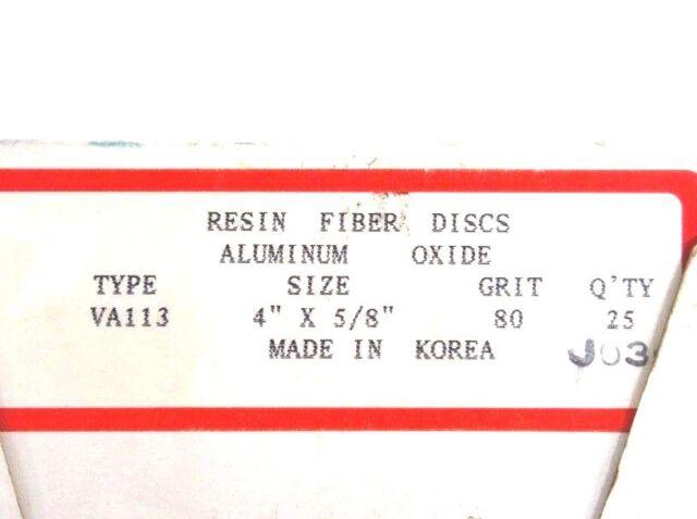 "Mibro 4/"" x 5//8/"" Fiber Resin Sanding Disc Aluminum Oxide 24 Grit 5 Discs"