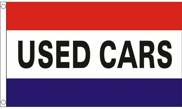 Used Cars Flag 5Ft X 3Ft Second Hand Cars Sales Banner Garage Forecourt Sign