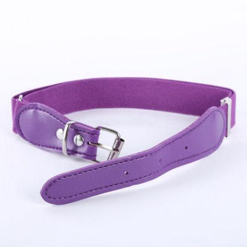 Toddler Candy Color Waist Belt Buckle PU Leather Kids Girls Boys Waistband Newly
