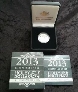 2013-NSW-SILVER-PROOF-HOLEY-DOLLAR-amp-DUMP-BICENTENARY-in-BOX-RAM-MINT