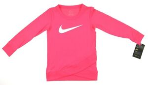 50c56e616f Nike Dri Fit Crossover Racer Pink Tunic Long Sleeve Girls Toddler ...