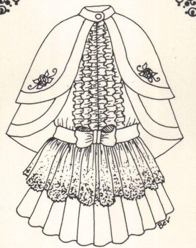 "Clothes Coat cap dress Pattern fits 13 14"" Little Darling Kish Betsy dolls 177"