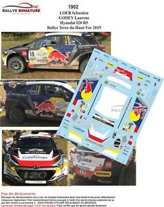 1997 Hyundai I20 WRC Sébastien Loeb Rallye Chile 2019 Aufkleber 1//43 Ref