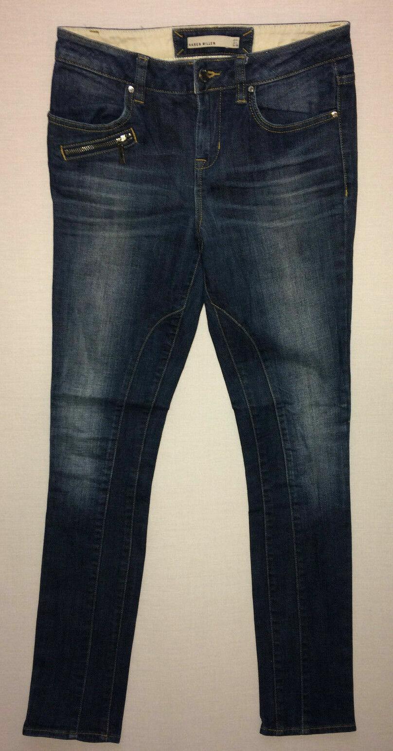 Karen Millen Women's Mid bluee Stretch Denim Slim Denim Jeans Size 8  W26 L32