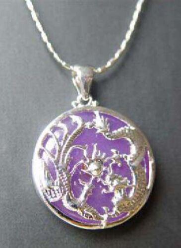 Lucky 18K naturel plaqué or dragon de jade collier pendentif femmes//hommes Bijoux Cadeau