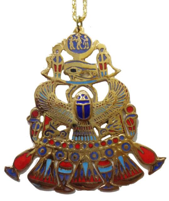 egyptian necklace huge scarab & horus eye  pendanat jewelry xxl    102