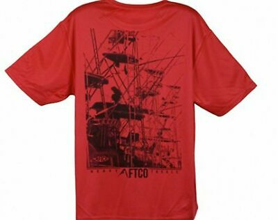 Aftco Rigging Performance T-shirt Red - Xxl Elegant Im Stil