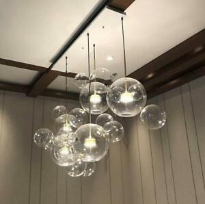 the best attitude 77159 3bfb5 Details about LED Glass Bubble Pendant Lamp Chandelier Ceiling Light  Fixture Living Room Light