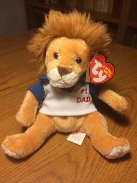 TY BEANIE BABIES  - MY DAD - #1 DAD Lion