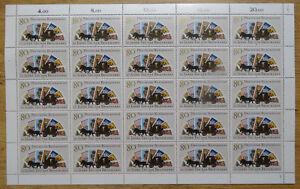 Bund-1300-postfrisch-Bogen-BRD-Tag-der-Briefmarke-1986-Full-Sheet-MNH-FN-2