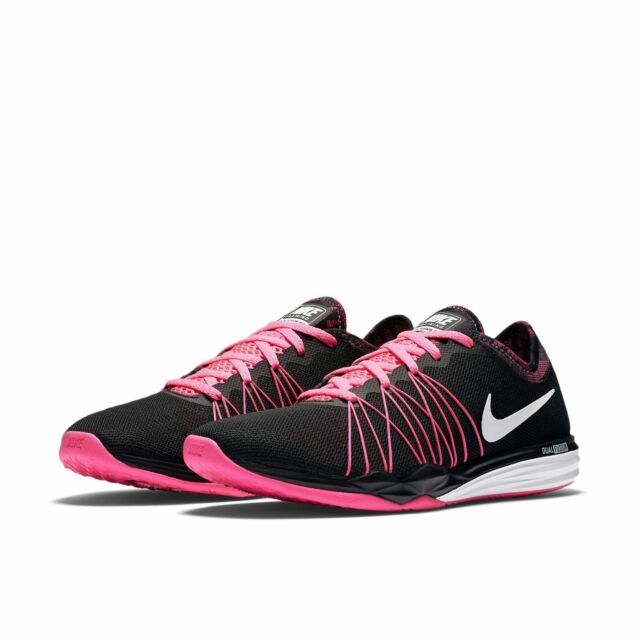 gran surtido material seleccionado marca famosa Nike Dual Fusion TR Hit Black Print Pink Women Shoes Trainers ...