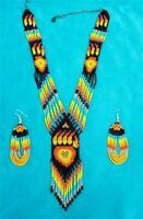 black Bear Claw Native American Beaded Jewelry Set