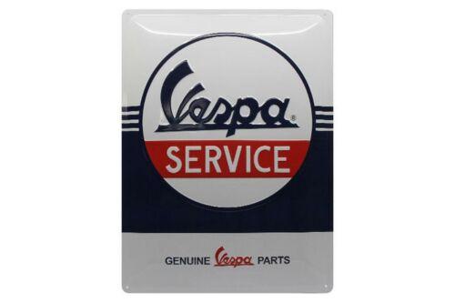 """Email Emaille Piaggio Servizio Relief-Blechschild /""""Vespa Service/"""" 40x30cm"""