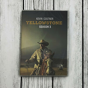 Yellowstone-Season-3-DVD-4-Disc-Set-Brand-NEW-amp-Sealed-Fast-Shipping-US-Seller