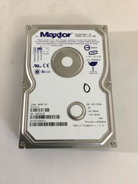 MAXTOR DIAMOND 60GB DRIVER FOR WINDOWS 7