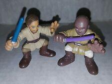 Star Wars Galactic Heroes Mace Windu & Obi Wan Action Figures Hasbro Loose
