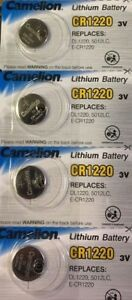 4-x-PILA-BOTTONE-CAMELION-CR1220-BATTERIA-LITIO-LITHIUM-3V-BATTERY-DL1220-5012LC