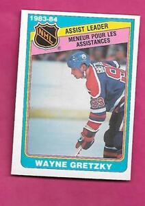 1984-85-OPC-382-OILERS-WAYNE-GRETZKY-ASSIST-LEADER-EX-MT-CARD-INV-C0701