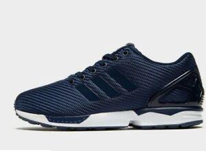 Adidas-ZX-Flux-BLUE-WHITE-MEN-039-S-Scarpe-Da-Ginnastica-Tutte-Le-Taglie-stock-limitata
