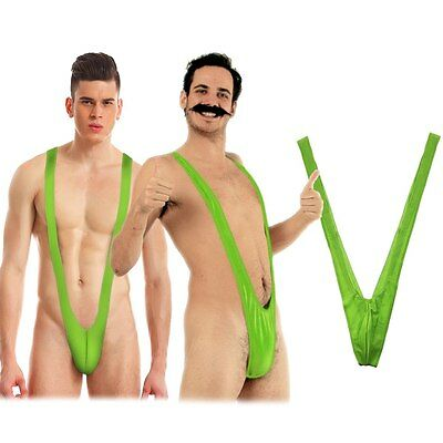 Sexy Mankini Thong Dress Up Stag Party Beach Borat Swim Suit Costume Swimwear