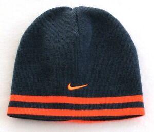 d4e16f487e1f Nike Reversible Gray   Orange Knit Beanie Skull Cap Youth Boy s 8-20 ...