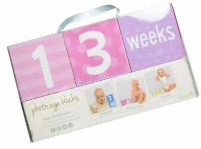 Sesame Street Photo Sharing Keepsake Age Blocks Newborn Baby Month Weeks Days Years