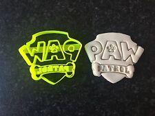 Paw Patrol Logo Cookie Fondant Cutter Cupcake Cake Decoration Gift Badge