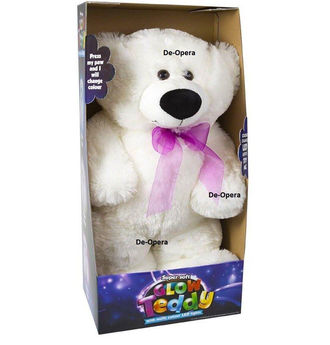 Miri Moo Super Soft Glow Teddy Bear Changing Colours Led Night Light Cuddly Toy