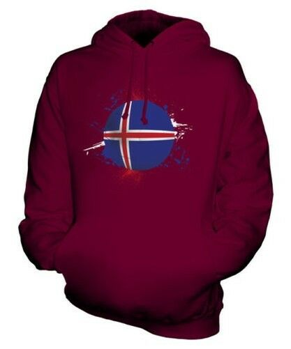 ICELAND FOOTBALL UNISEX HOODIE TOP GIFT WORLD CUP SPORT