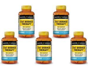 5 X 60 = 300 CAPSULES FAT BURNER THERAPY CHROMIUM PICOLINATE weight management